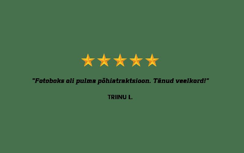 Fotostop fotoboksi kliendi tagasiside
